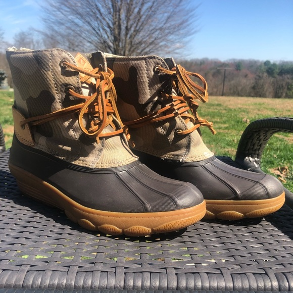 Sperry Shoes | Euc Duck Boots Camo Size